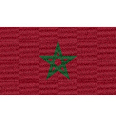 Flags Morocco on denim texture vector image