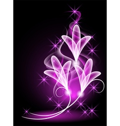 Magical glow flowers vector