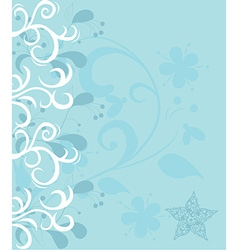 Abstract background design with flowers vector