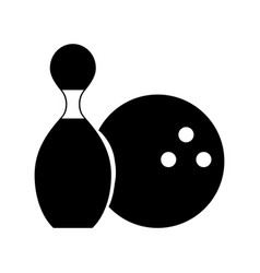 black icon pin and ball cartoon vector image