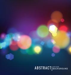 Blurred lights vector image vector image