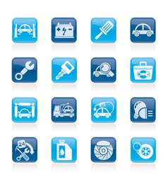 Car service maintenance icons vector image vector image