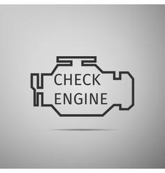 Check engine icon vector