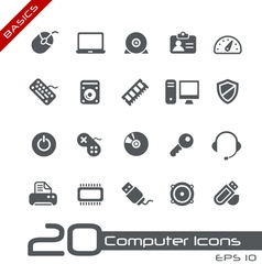 Computer devices basics series vector
