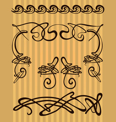 Decorative items and scope in modern style vector