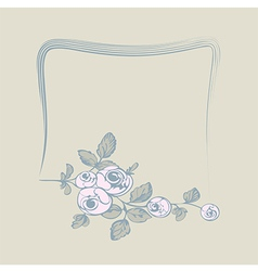 frame flower rose vector image