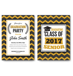 graduation party template invitation vector image
