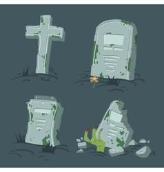 Halloween tombs set vector