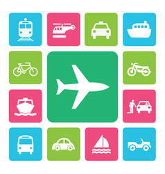 Icon set traffic vector