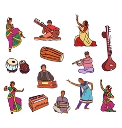 indian set vector image