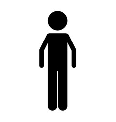 isolated man design vector image