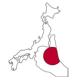 Japan hand signal vector