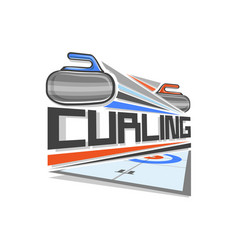 logo of curling sport vector image