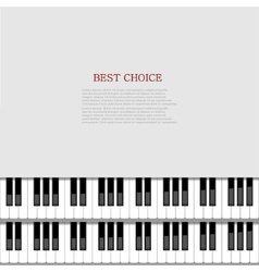 Modern piano background vector