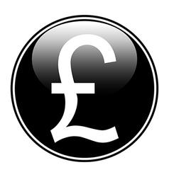 Pound button vector image