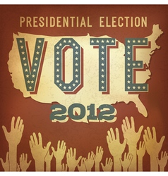 presidential election 2012 retro poster vector image