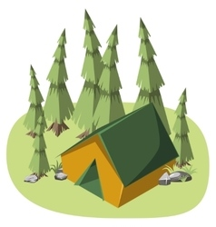Tent for hiking vector image vector image