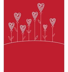 Valentines love flower vector