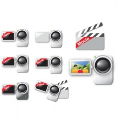 video cameras vector image vector image