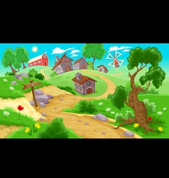 View on the countryside vector