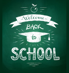 Welcome back to school poster vector