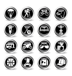 Lifestyle icon set vector