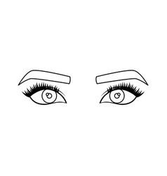 Woman eyes icon vector