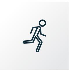 Jogging outline symbol premium quality isolated vector