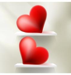 Valentine Hearts Red StValentines Day EPS 10 vector image