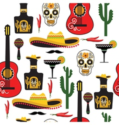 Seamless mexican pattern vector