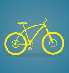 Yellow bike icon vector