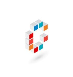 3d cube letter c logo icon design template vector