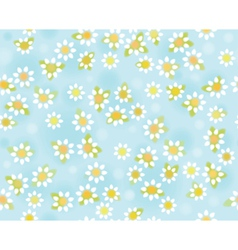 Blue floral pattern vector