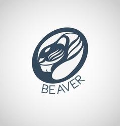 beaver logo vector image