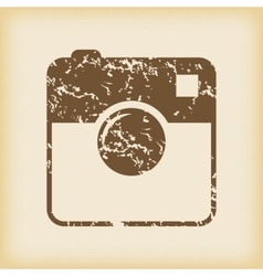 Grungy square samera icon vector