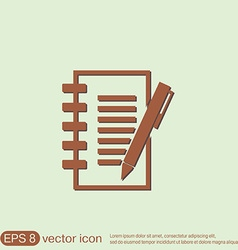 Sheet of paper with pen vector