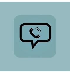 Pale blue calling message icon vector