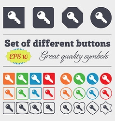 Key sign icon unlock tool symbol big set of vector