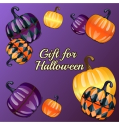 Gift for halloween festive background vector