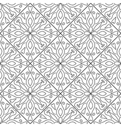 Moroccan floral monochrome seamless ornament vector