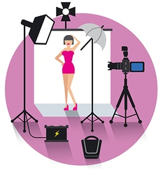 Photo studio concept icon vector