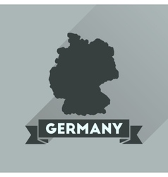 Flat icon with long shadow germany map vector