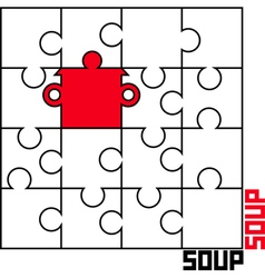 Puzzle with a saucepan vector