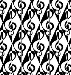Black and white alternating G clef half and half vector image