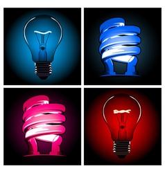 bulb lamp set vector image vector image