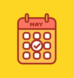 calendar web icon office organizer business vector image