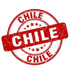 Chile red grunge round vintage rubber stamp vector
