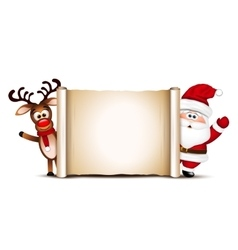 Christmas card design template Santa Claus and vector image