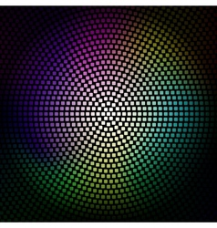 Colorful disco lights background vector