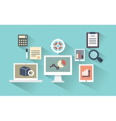 concept of mobile devices and documents vector image vector image
